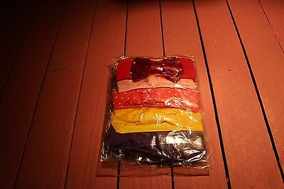 Brand New 9 pack Baby Girls Soft Cotton Decorative Various Color Headbands