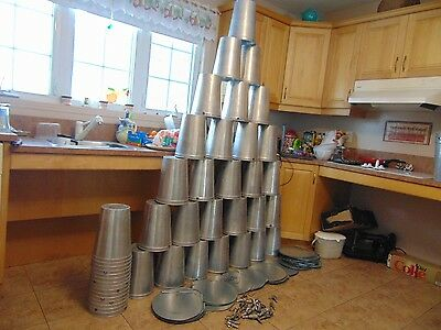 10 maple syrup aluminium sap buckets lids covers +taps spiles  #17