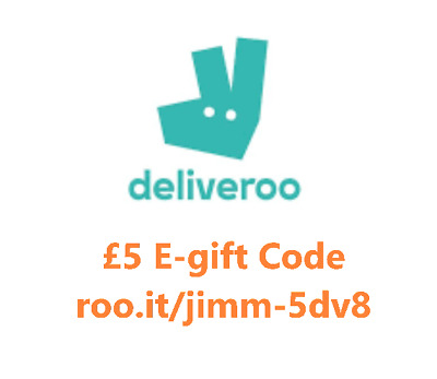 Deliveroo voucher code. £10 off spread over first 4 orders. A10 Code: jimm-5dv8