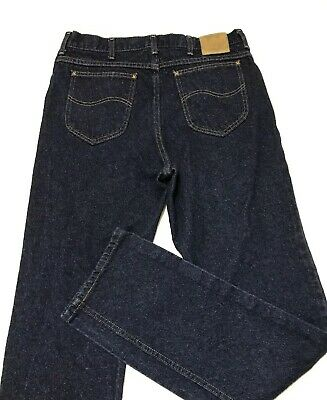 ea9dc510 VINTAGE LEE RIDERS Dark Blue Jeans USA Union Made 34x35 (Tag 36x36 ...