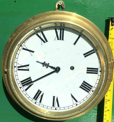 Newhaven Usa Antique American 8 Day Marine Ships Mariner Clock Serviced Gwo
