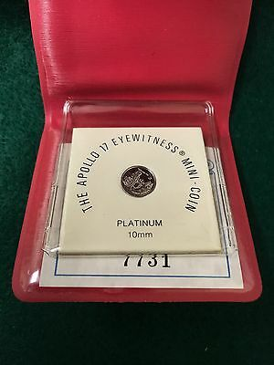 1973 The Apollo 17 Eyewitness Platinum Mini Coin