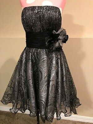 c2364352f06ad Beyond Black Cocktail Dress Sz 8 Prom Evening - division of jovani - worn  once