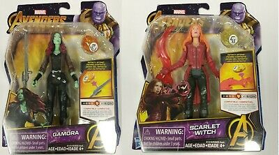 Marvel Avengers Infinity War GAMORA and SCARLET WITCH With Infinity Stone