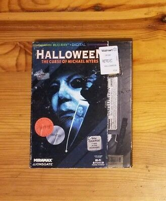Halloween 6: The Curse of Michael Myers VHS SLIPCOVER BLU RAY/DIGITAL SEALED OOP