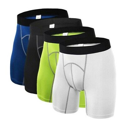 AU Mens Body Armour- Compression Base Layer Thermal Under Shorts Sport Skins