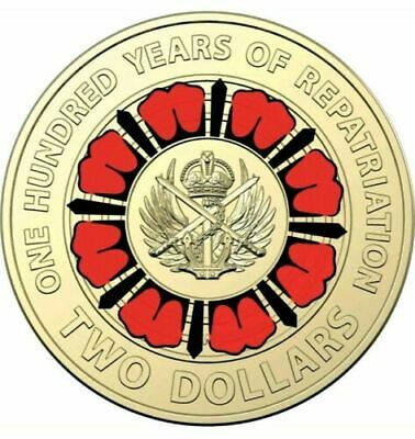 2019 $2 Bring Them Home A Hundred Years Of Repatriation Multi Colour $2 Coin x1