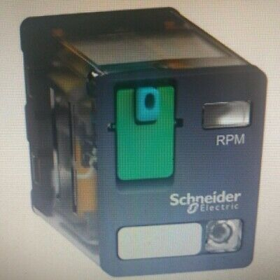 Schneider ZELIO RPM POWER PLUG-IN RELAY 24V DC 15A 2xC/O With LED, Flat Pin