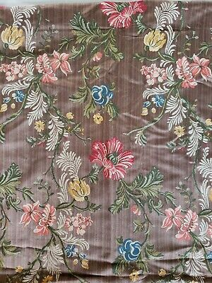 Early 20th Century Fabulous Floral - Pattern Fabric Upholstery Cotton Stunning