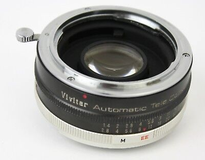 VIVITAR Automatic Tele Converter 2x-7 lens with case & box for KONICA AR mount