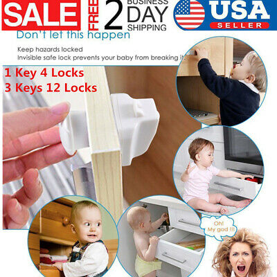 5/15PCS Baby Safety Magnetic Cabinet Locks Invisible Child Proof Cupboard Drawer