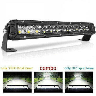 12inch Super Slim Dual Row 6000K LED Work Light Bar Spot Beam Driving 8''