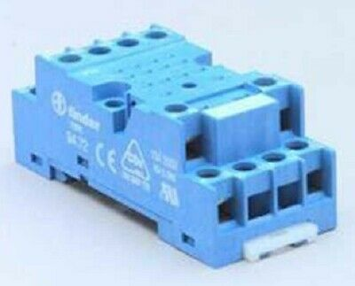 Finder DIN-RAIL MOUNTING SOCKET 8-Flat Pin 2xC/O For 55.32 & 99-01 LED Modules