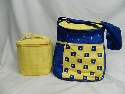 Enfamil Baby Formula Bottle Insulated Bag With Diaper Bag Yellow Blue