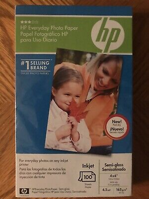 "HP Photo Paper 100 Sheets 4x6"" InkJet Everyday Semi-Gloss Internet Email Q5440A"