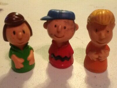 """Pigpen Schroeder Patty Charlie Brown Figure 2"""" Rubber United Features Syndicate"""