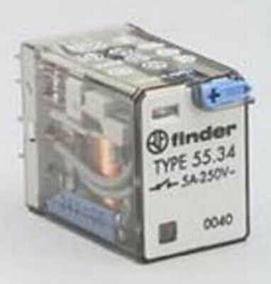 Finder MINIATURE PLUG-IN RELAY 7A 4xC/O 14-Pins, Mechanical Flag- 12VDC Or 24VDC