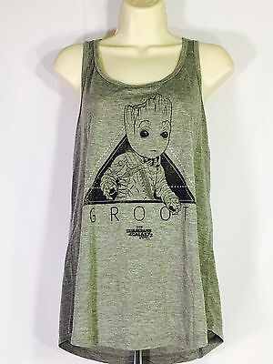 Women's GUARDIANS OF THE GALAXY BABY GROOT Tank Top T-Shirt 3XL Loot Wear Crate