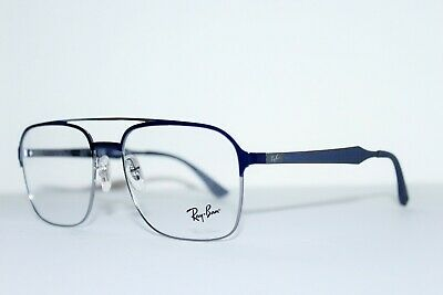 a73020124ad9e New Authentic Ray-Ban Rb 6404 2947 Blue Silver Frames Eyeglasses 56-18 Mm