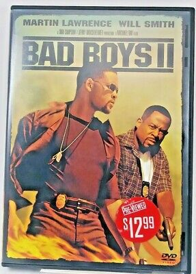 Bad Boys 2 DVD Will Smith Martin Lawrence Movie 2 disc