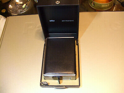 NICE PRICE! Table lighter Braun Permanent, 1966 by Reinhold Weiss, Moma. Work.