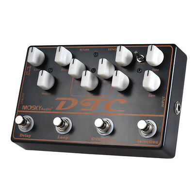 mosky pedal DTC Combined guitar Effect Pedal 4 Effects Pedal in 1 Unit