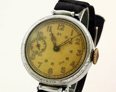 RARE Kirovskie military commander USSR WWII wrist watch Сaliber ChK-6, 15 Jewels