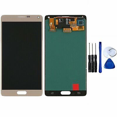 LCD Für Samsung Galaxy Note 4 N910F LCD Display Bildschirm Glas Touchscreen Gold