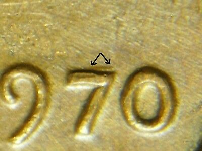 1970-P  LINCOLN MEMORIAL CENT Double Die Obverse WDDO-010/DDO-004 EF