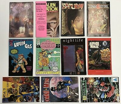 Lot of 11 independent Comic Books Various Mostly #1's Aircel Arrow Adventure +