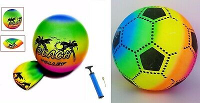 Summer Beach Ball Inflatable Pool Swim Rubber Beach Volleyball football & pump