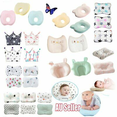 Baby Infant Newborn Memory Foam Pillow Prevent Flat Head Anti Roll Support 2019