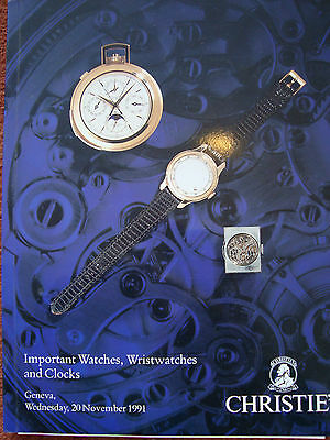 Christie's Auction Catalogues for watches and clocks - 20th November 1991