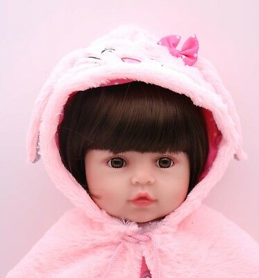 """24"""" Reborn Toddler Lovely Baby Girl Doll Silicone Vinyl Realistic Toy Kids Gift"""