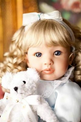"22"" Reborn Baby Toddler Girl Doll Toy Silicone Vinyl Lifelike Newborn Kids Gifts"