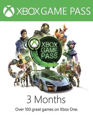 ⭐️instant Digital Code ⭐️3 Months Xbox Game Pass Microsoft Xbox One 360 ⭐️