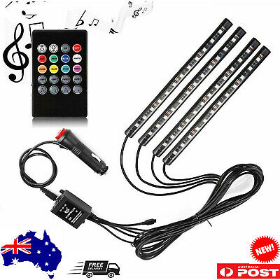 New Multi Color Music Car Strip Light Under Dash Lighting Kit with Sound Active