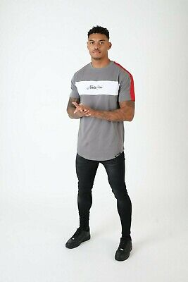 Northern Garms Garrix Tee T Shirt Sik GFN Silk Hera Gym Muscle Fit King Grey