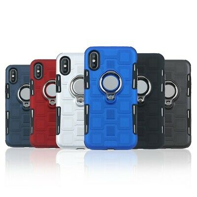 New 2 In 1 Suction Ring Finger Holder Grip Thin Case Cover For  iPhone XS MAX XR