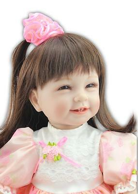 "22"" Realise Reborn Baby Toddler Girl Doll Full Vinyl Newborn Princess Kids Gift"