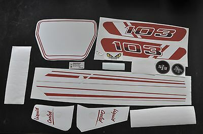 kit autocollant peugeot 103 rcx ph1 rouge  MOB038