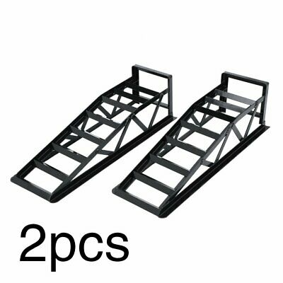 2PCS Car Ramp 2 Ton Lifts Loading Vehicle Ramps Pair Heavy Duty 3mm Steel Ramp