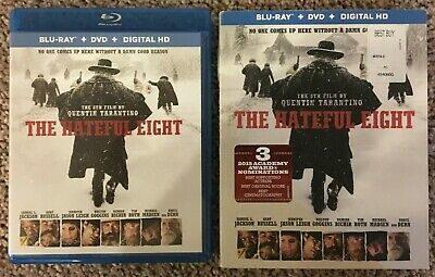The Hateful Eight (Blu-ray/DVD, 2016, 2-Disc Set) In Excellent Condition!!!