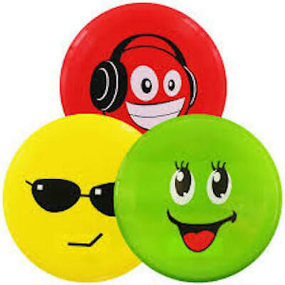 """Funny Face Emoji Flying Disc 8"""" (20.5 cm) Frisbee. Great for the Dog or Garden"""