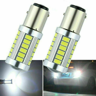 LED Car 2x White Bulbs BAY15D 1157 P21W Backup Reverse Light 33SMD 5630 DC 12V