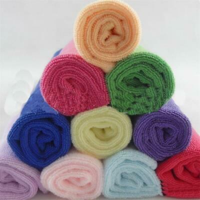 10Pcs Soft Fiber Cotton Face Hand Towel Square Luxury Baby Infant Cleaning Cloth