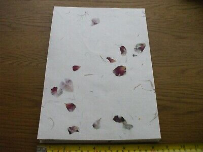 40 Sheets of White  A4 Handmade cotton Mulberry Papers