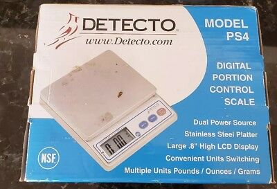 DETECTO PS7 / PS-7 Portion Control Digital Weight Scale ~ Brand New