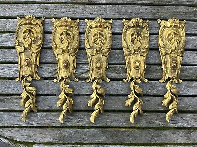 Louis XV Antique French Gilt Bronze Furniture Mounts - Selling Individually