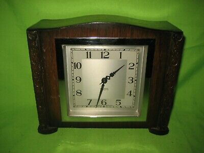 Smiths Vintage  8-Day Wooden Mantel Clock Working